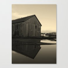 Warehouse Reflection in Yellow Canvas Print