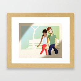 He Thinks He Likes Her And She Thinks She Likes It Framed Art Print