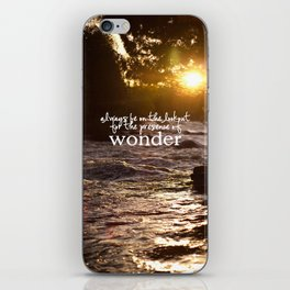 presence of wonder. iPhone Skin