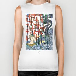 Sea Monster Biker Tank