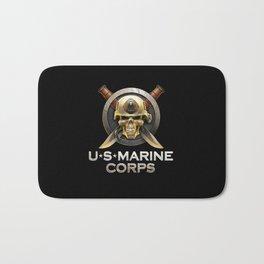 Military badge with marine skull Bath Mat