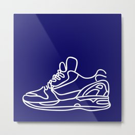 Sneakers Outline #6 Metal Print