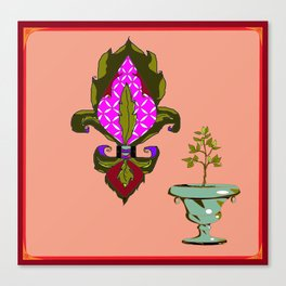 Fleur de Lis Home Decor Canvas Print