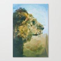 lion Canvas Prints featuring Lion by Esco