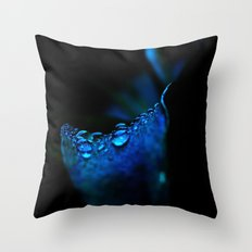 flower blue lily Throw Pillow