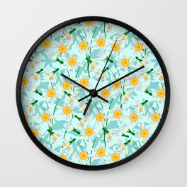 blooming daffodils Wall Clock