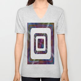Fluid Abstract 24 Unisex V-Neck
