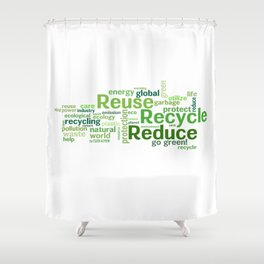 ECO Collection - model 5 Shower Curtain