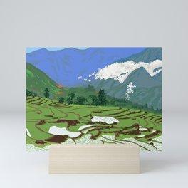 rice terraces Mini Art Print