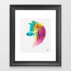 Fantasy Wolf Framed Art Print