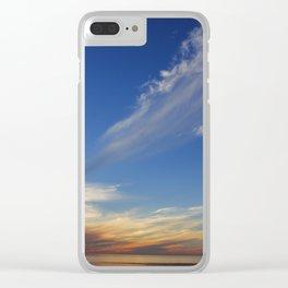 Whisper Clouds Clear iPhone Case
