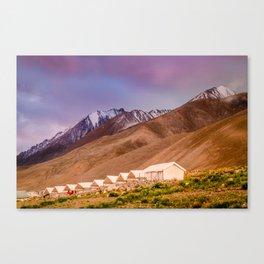 Campsite near Pangong Tso Lake in Ladakh  Canvas Print