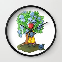Marker tree skulls man - apple Wall Clock