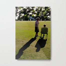 The Cricket Match Metal Print
