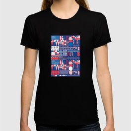 Red Doodle Pattern T-shirt