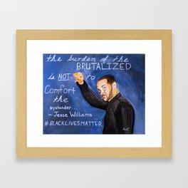 The Brutalized and the Bystander Framed Art Print