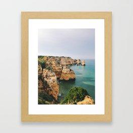 Ponta da Piedade, Lagos, Portugal Framed Art Print