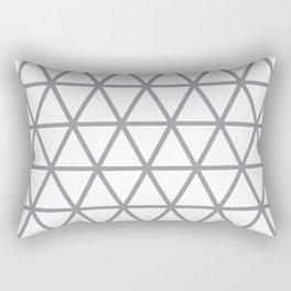 Grey Triangle Pattern 2 Rectangular Pillow