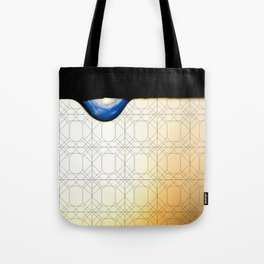 droplet with geometric Tote Bag
