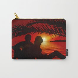 Silhouette Pair Sunset Tree Longing Love Carry-All Pouch