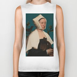 PORTRAIT OF A LADY WITH A SQUIRREL AND A STARLING - HANS HOLBEIN Biker Tank