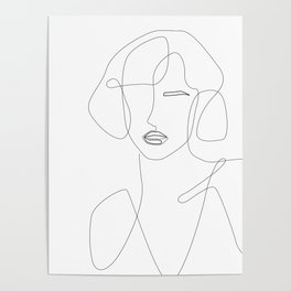 Abstract Beauty Outline Poster