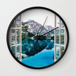 Lake Scenic Landscape | OPEN WINDOW ART Wall Clock