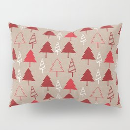 Christmas Tree Red and Brown Pillow Sham
