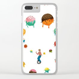 Ice Cream Solves Everything Clear iPhone Case