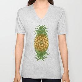 Genetically Engineered Pineapple Unisex V-Neck