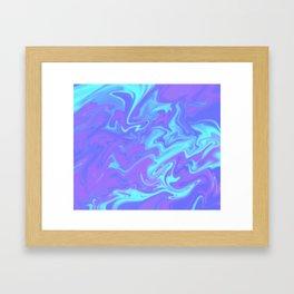 Bermuda Tye Dye Framed Art Print