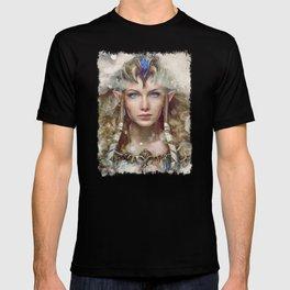 Epic Princess Zelda from Legend of Zelda Painting T-shirt