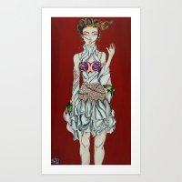 Konnichiwa Kawaii!  Art Print