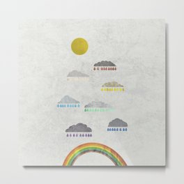 How rainbows are made Metal Print