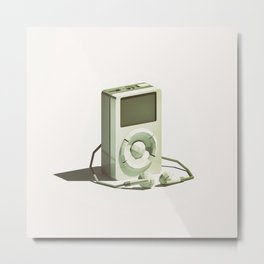 Lo-Fi goes 3D - Classic Music Player - first generation iPod Metal Print