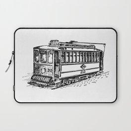 City Tram Detailed Illustration Laptop Sleeve