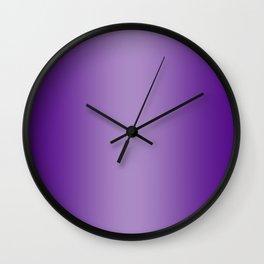 Violet to Pastel Violet Vertical Bilinear Gradient Wall Clock