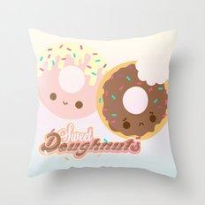 Sweet Doughnuts Throw Pillow