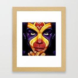 Gemini, inspired by Prince Framed Art Print