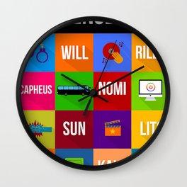 SENSE8 Characters Wall Clock