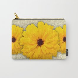 Trio of Orange Helianthus Carry-All Pouch