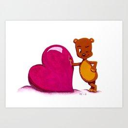 Teddy Valentine #2 Art Print