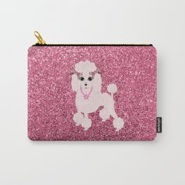 Pink poodle Carry-All Pouch