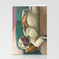 sloth Stationery Cards featuring Sloth by Ken Coleman
