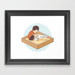 Brian's Sandbox Framed Art Print