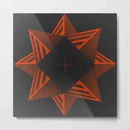 Concrete Star, digital architect art Metal Print