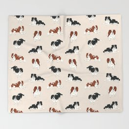 Cavalier King Charles Spaniels Mully and Sojo Throw Blanket