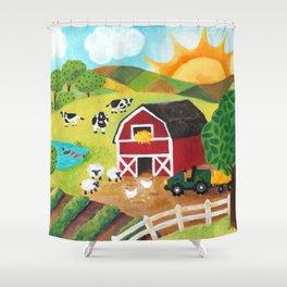 Daybreak on the Farm Shower Curtain