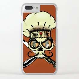 Cook or die!Chef's skull Clear iPhone Case