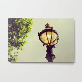 Old english lantern in London city - Fine Art Travel Photography Metal Print